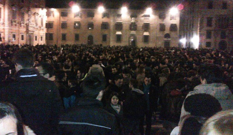 Raduno studenti Piazza dei Cavalieri 2 marzo 2013-3